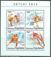 TOGO 2014 SOCHI WINTER OLYMPIC GAMES  SHEET  MINT NH