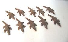 Elastolin 10 Piece Crocodile Figurine Soft Plastic Blanks ca.10cm (K34)