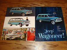 Original 1965 1966 Jeep Wagoneer Sales Brochure Post Card Lot of 4 65 66