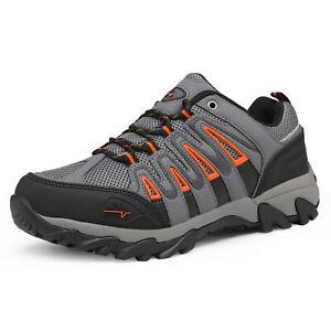 Men's Waterproof Hiking Shoes Low Top Lightweight Outdoor Trekking Hiking Shoes