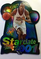 1997 97 Skybox E-X2001 STARDATE Allen Iverson #7, Die Cut Insert Refractor like