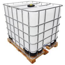 1000l IBC Container Wassertank als Regenwassertank auf Holzpalette GESPÜLT