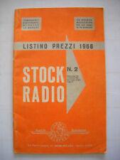 Listino prezzi della Stock Radio Solaphon  Milano 1968