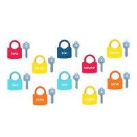 Keys & Locks Set Padlock Keys Motor Skill Kids Montessori Learning Unlocking Toy