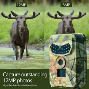 Outdoor Hunting Camera 12MP Wild Animal Detector Trail Camera Night Vision T7D5