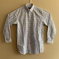 Men's Vineyard Vines Slim Fit Whale Shirt Button Down Size XL White Blue Check