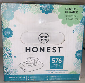 The Honest Company Baby Wipes Hypoallergenic Honest Wipes 576 Count