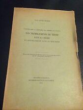 LES TREMBLEMENTS DE TERRE DANS LA DRÔME de Louis BOISSE, 1936 DAUPHINE TRICASTIN