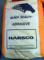HARSCO BLACK BEAUTY Blasting Abrasive FINE 20/40 Mesh Size 50 lb Bag low silica