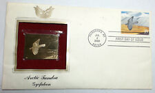 2003 Arctic Tundra Gyrfalcon FDC Replica 22kt Gold Golden Cover FDI First STAMP