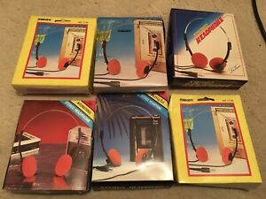 Vintage Walkman Headphones Personal Cassette Player