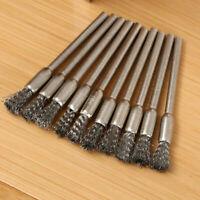 10 pcs Stahl Scheibenbürste Bohrmaschine Drahtbürste Rundbürste Für 5 mm