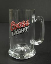 "Coors Light Clear Glass Beer Mug, 5 5/8"""