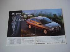 advertising Pubblicità 1997 RENAULT MEGANE CLASSIC