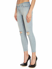 J Brand Distressed Midrise Capri Skinny Jeans Dropout 26 Net-A-Porter $235