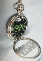 Star Wars Fob Silver Watch Pendant Steam Punk Space Opera Darth Vader Movies UK