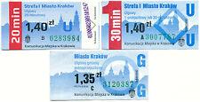KRAKAU (Polen) -- 3x verscheidene Tickets -- interessant !