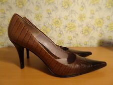 Womens Kenneth Cole Brown Scaled Heels - UK 9 FREE P&P!