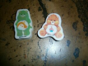 TWO CARE BEAR CHILDRENS ERASERS