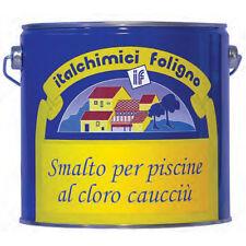 Smalto al cloro caucciu' 2,5 litri per verniciatura Piscine Pavimenti celeste