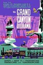 "Vintage 1960 Disney ( Grand Canyon Diorama ) Collector's 11""x 17"" Print - B2G1F"