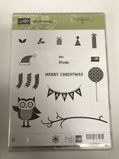 Stampin' Up! Owl Occasions Clear Mount Stamp Set To From Stamp Christmas