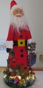 Weihnachten - Großer Weihnachtsmann mit LED.  Figur Nr.1 Handmade Unikat