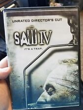 """""""Saw 4 IV It's a Trap"""" Unrated Director's Cut (DVD Widescreen) Very Good"""