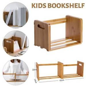 Bamboo Extend Bookshelves Book Storage Rack Desk Book Shelf Storage Holder DIY