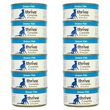 12 x thrive Wet Cat Food Ocean Fish 100% Complete Tin Mackerel & Whitebait - 75g