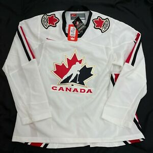 Vintage Team Canada Nike SEWN Olympic IIHF  Hockey Jersey Men's Large L NEW TAGS