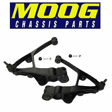 For Cadillac Chevy Pair Set of 2 Front Lower Control Arms w/ Ball Joints MOOG