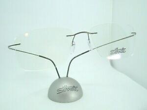 Silhouette 5515  6560 Matte Gunmetal  19-150  Drilled Rimless Eyeglass Frame-NEW