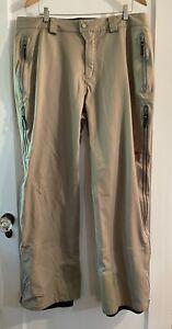 Mountain Hardwear Men's Tan Snowboard/Ski Pants Size XL EUC
