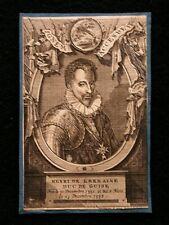 Gravure portrait HENRI DE LORRAINE DUC DE GUISE  graveur F. HARREWIJN