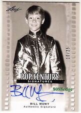 "2011 Pop Century Auto: Bill Mumy #10/25 Autograph Original Tv ""Lost In Space"""