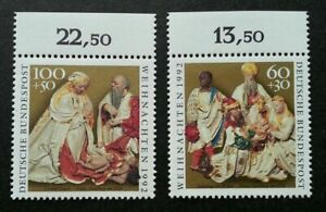 [SJ] Germany Christmas 1992 Festival Religious Culture (stamp with margin) MNH