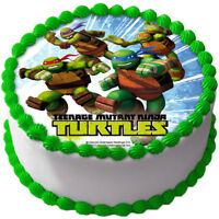 Ninja Turtles TMNT Eßbar Tortenaufleger NEU Party Deko Geburtstag Kuchen dvd