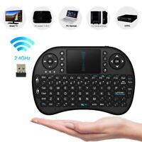 AM_ AM_ I8 MINI 2.4GHZ WIRELESS KEYBOARD WITH TOUCHPAD FOR TV SET-TOP BOX PC LAP