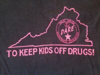 Vtg 80s 90s DARE Virginia Keep Kids Off Drugs 50/50 Screen Stars T-Shirt S-M 38""