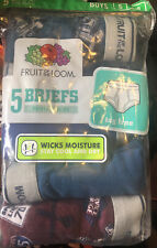 Fruit of the Loom Boy's Fashion Briefs, 5 Pack Size Small (6-8) Tag Free. NWT