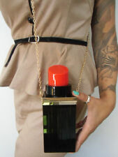 Sac à main minaudiere original tube de rouge à lèvres lipstick noir pinup kawaii
