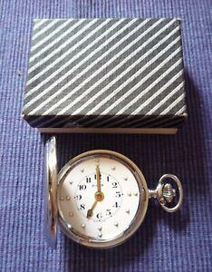 Vintage RNIB Braille Pocket Watch Swiss Made