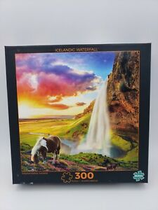 """Jigsaw Puzzle """"Icelandic Waterfall"""" by Buffalo 300 Pieces New and Sealed!!"""