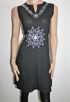 SILE Brand Women's Black Embroidered Sleeveless Dress Size S BNWT #TO47