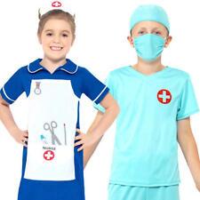 Medical Kids Fancy Dress Doctor Uniform Occupations Boys Girls Childrens Costume