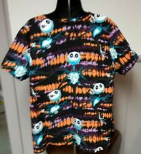 Scrub Shirt Jack Skeleton Nightmare Before Christmas Disney Brand Xl