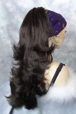 Long Wavy Dark Brown # 4 Clip-On Hair Piece Ponytail Extension