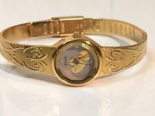Vintage Elgin Quartz Gold Plated Ladies Wrist Watch Very Elegant (EK722-007)