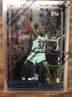 SHAQUILLE O'NEAL 1996 TOPPS FINEST REPRINT 92-93 RC #362 Chrome with peel intact